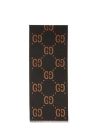 Sciarpa stampata grigio scuro di Gucci
