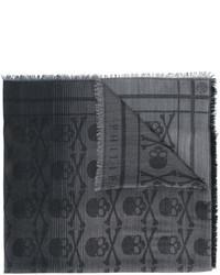 Sciarpa stampata grigio scuro di Philipp Plein