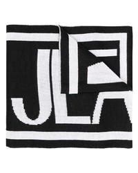 Sciarpa stampata nera e bianca di VERSACE JEANS COUTURE