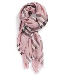 Sciarpa stampata rosa