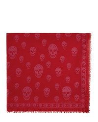 Sciarpa stampata rossa di Alexander McQueen