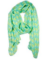 Sciarpa stampata verde