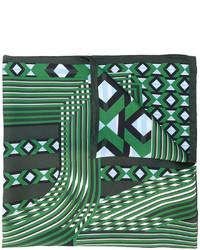 Sciarpa stampata verde scuro di Fendi