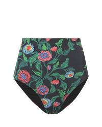 Slip bikini a fiori neri di Patbo