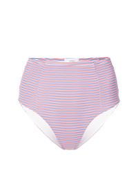 Slip bikini a righe orizzontali rosa di Onia