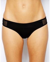 Slip bikini in rete neri di French Connection