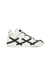 Sneakers alte bianche e nere di Ermenegildo Zegna