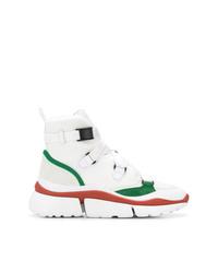 Sneakers alte di tela bianche di Chloé