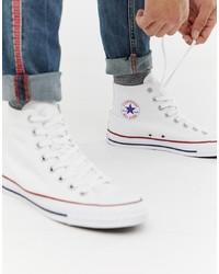 Sneakers alte di tela bianche di Converse