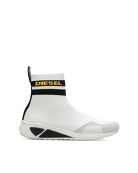 Sneakers alte di tela bianche di Diesel