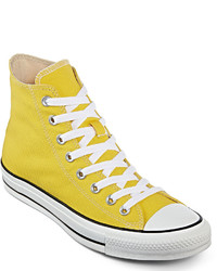 Sneakers alte di tela gialle