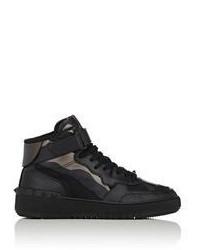 Sneakers alte di tela nere