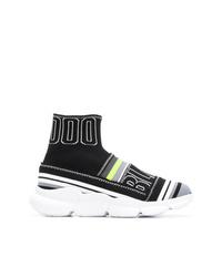 Sneakers alte di tela nere di MSGM