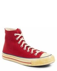 Sneakers alte di tela rosse
