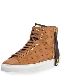 Sneakers alte di tela terracotta