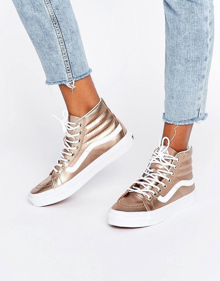 Vans Sneakers Alte Dorate Di Asos €94 Lookastic xwwqTtr