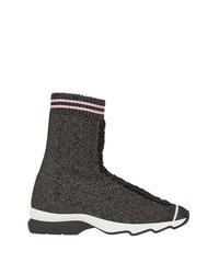 Sneakers alte grigio scuro di Fendi