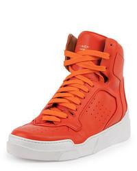 Sneakers alte in pelle arancioni