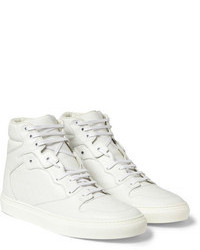 Sneakers alte in pelle bianche