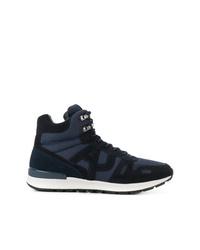 Sneakers alte in pelle blu scuro di Armani Jeans 44ae67e829f