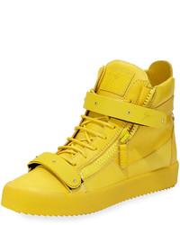 Sneakers alte in pelle gialle