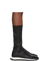Sneakers alte in pelle nere di Rick Owens
