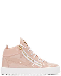 Sneakers alte in pelle rosa