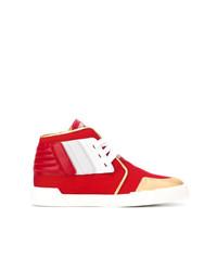 Sneakers alte in pelle rosse di Giuseppe Zanotti Design