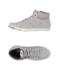 Sneakers alte in pelle scamosciata grigie