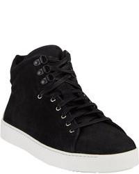 Sneakers alte in pelle scamosciata nere