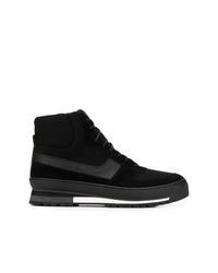 Sneakers alte in pelle scamosciata nere di Calvin Klein