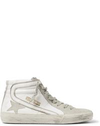 Sneakers alte in pelle scamosciata