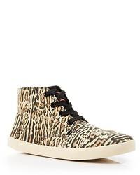 Sneakers alte leopardate marrone chiaro
