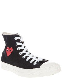 Sneakers alte nere e bianche