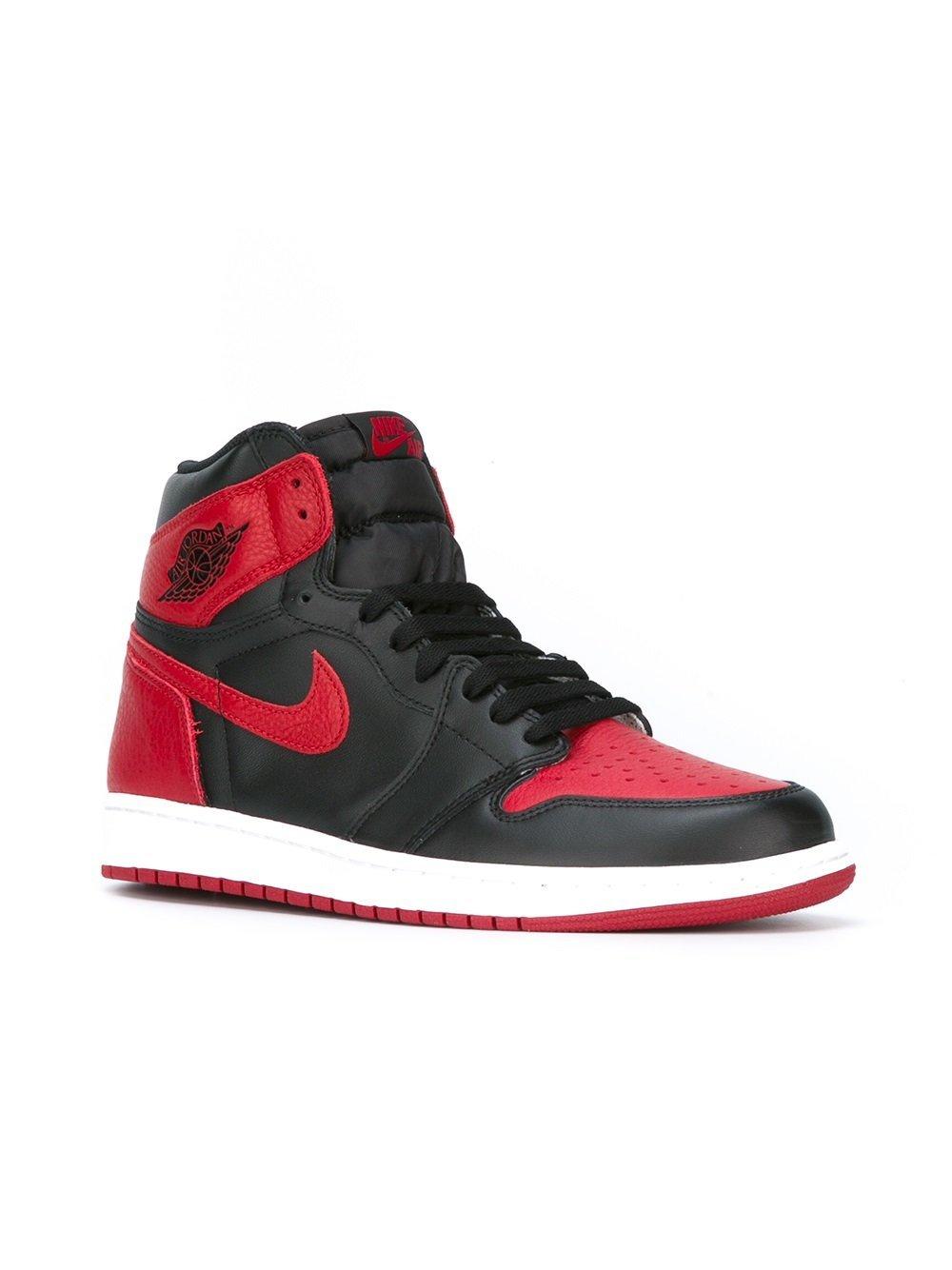 sneakers alte rosse e nere di nike 2 173 farfetch com lookastic sneakers alte rosse e nere di nike