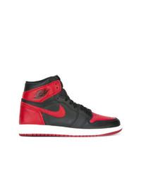 Sneakers alte rosse e nere da uomo   Outfit uomo   Lookastic