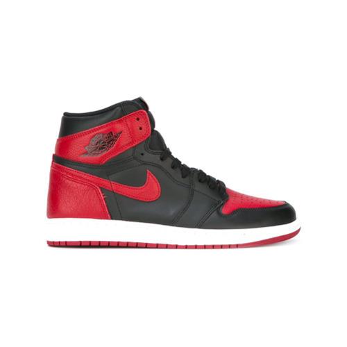 finest selection b065b ed8ad ... Sneakers alte rosse e nere di Nike ...