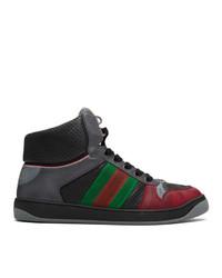 Sneakers alte stampate grigio scuro