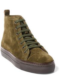 Sneakers alte verde oliva