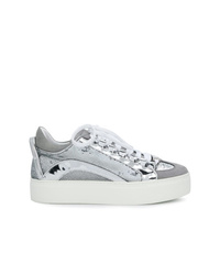 Sneakers basse argento di Dsquared2