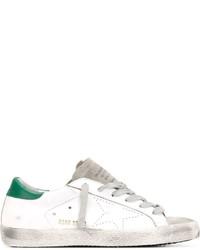 Sneakers basse bianche e verdi di Golden Goose Deluxe Brand