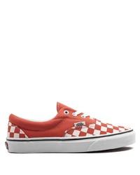 Sneakers basse di tela a quadri rosse di Vans