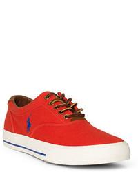 Sneakers basse di tela arancioni