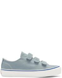 Sneakers basse di tela azzurre