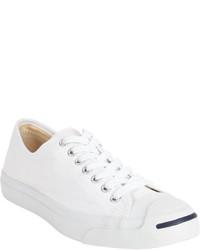 Sneakers basse di tela bianche