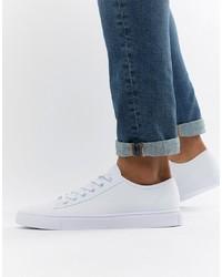 Sneakers basse di tela bianche di ASOS DESIGN