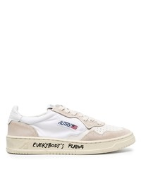 Sneakers basse di tela bianche di AUTRY