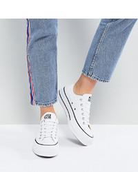 Sneakers basse di tela bianche di Converse
