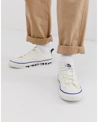 Sneakers basse di tela bianche di Diesel