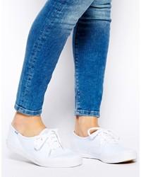 Sneakers basse di tela bianche di Keds